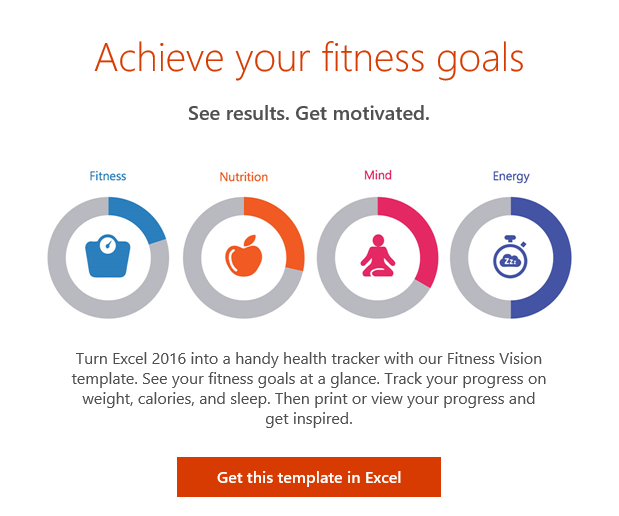 achieve your fitness goals with excel